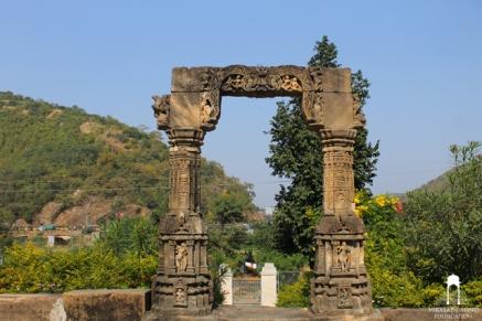 Torana at Harishchandra ni chori Temple (8th Century) Shamlaji - North Gujarat