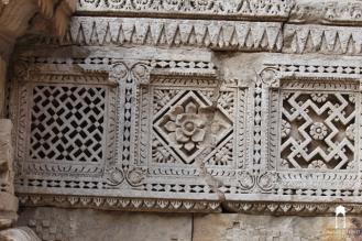 details of geometrical pattern at Rani ni Vav