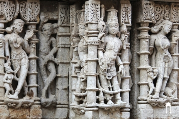 Vishnu and a standing Yogi