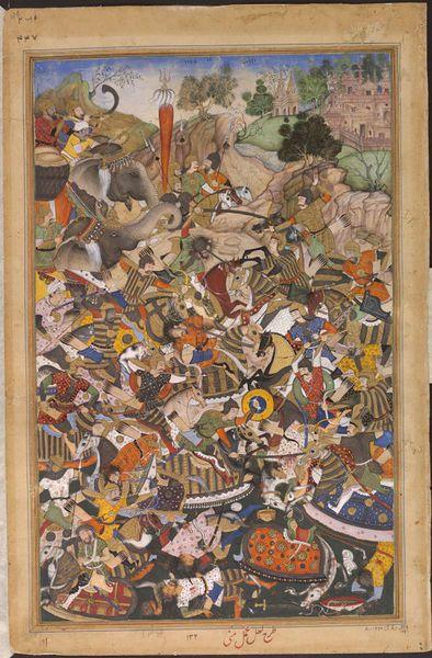 Durgawati's battle with Asaf Khan as depicted in a folio of Akbarnama. Image source - Internet
