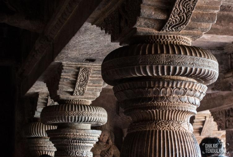 Badami Cave 1 - pillar capitals