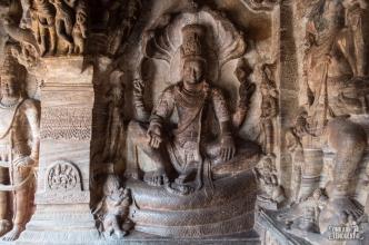 Badami Cave 4 - Vishnu
