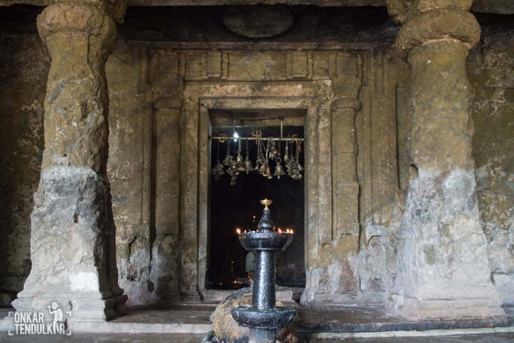 Entrance to the sanctum cell in cave 1