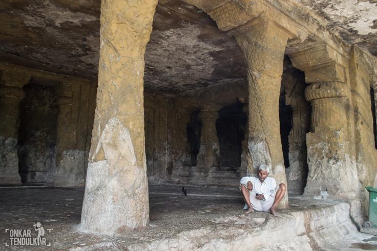 Front pillars cave 1