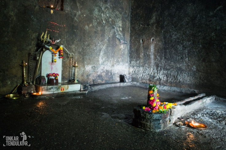 Newly installed lingas in sanctum