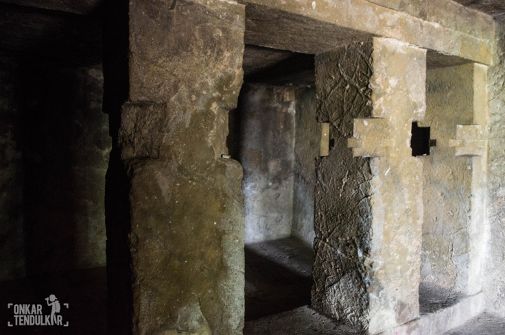 Plain interior of cell next to Sanctum (if Pashupata cell is on left then this is on sanctum's right side)