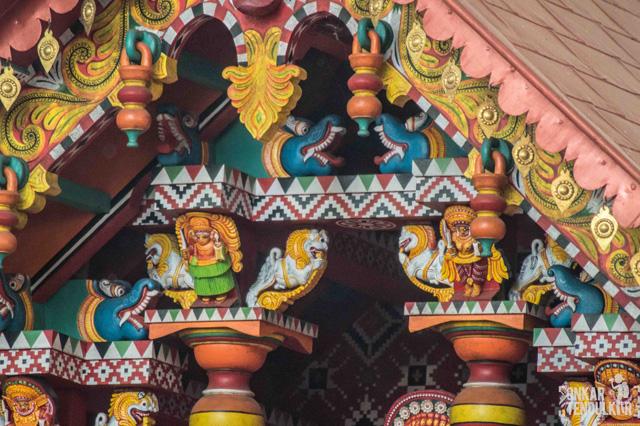design on a theyyam shrine