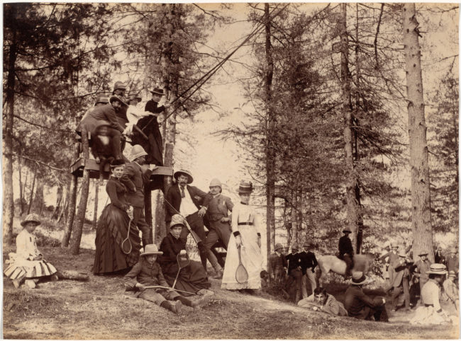 11-Picnic party, Mashobra, c. 1885-1887, Clevelnd