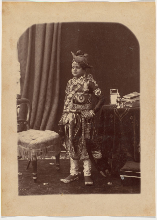 13-His Highness the Maharaja of Scindia, c. 1885-1887, Cleveland museum