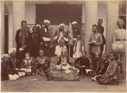 14-Maharaja of Rewa and classmates, c. 1885-1887. by Raja Deen Dayal (Indian, 1844-1905), Cleveland Museum of Art