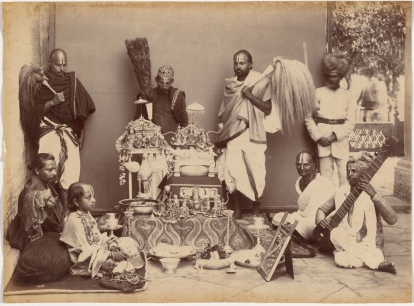 15-Maharaja of Rewa at Prayer, 1887, Cleveland