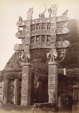 2- Northern gate of Sanchi Stupa, 1882, British Library