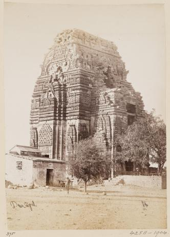 3- Topographical Album, 19thC, 'Views of Central India by Deen Diyal, Indore'_ Diyal, Deen (Indore). India, Gwalior, Fort, Teli Mandir Temple, V&A