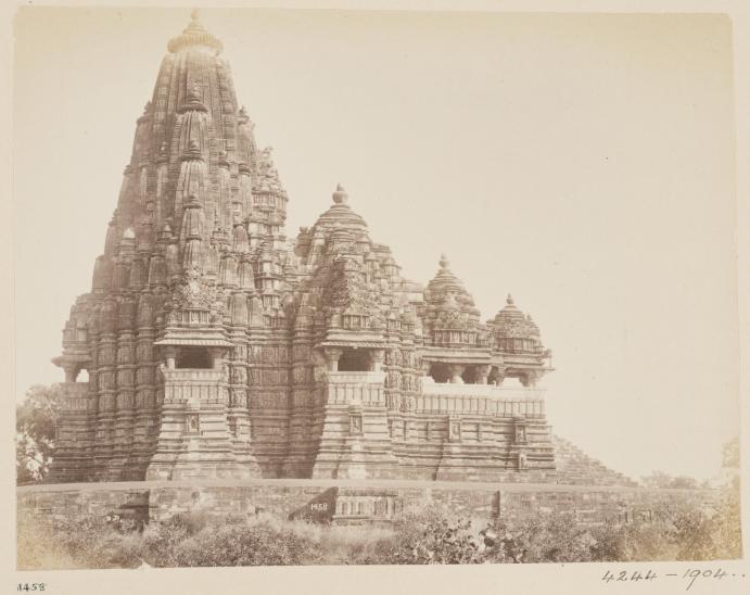 4-Topographical Album, 19thC, 'Views of Central India by Deen Diyal, Indore'_ Diyal, Deen (Indore). India, Khajiraha, Kandariya Temple1, V&A