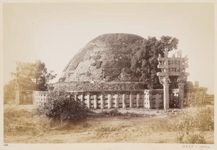6-Topographical Album, 19thC, 'Views of Central India by Deen Diyal, Indore'_ Diyal, Deen (Indore). India, Sanchi Tope, near Bhopal, V&A