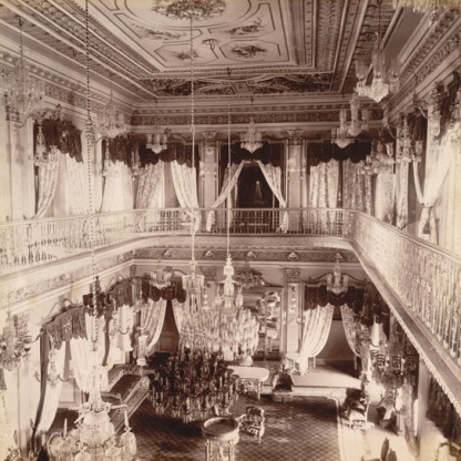 7-The Drawing Room of Chowmahela Palace, Hyderabad, 1880, British Library
