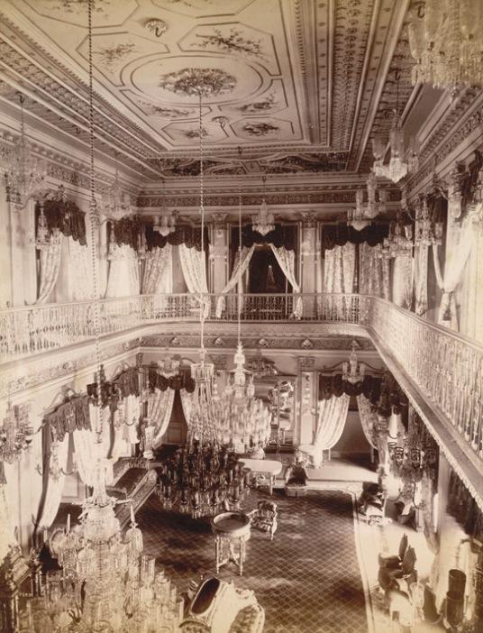7-The Drawing Room of Chowmahela Palace, Hyderabad, 1880, British Library