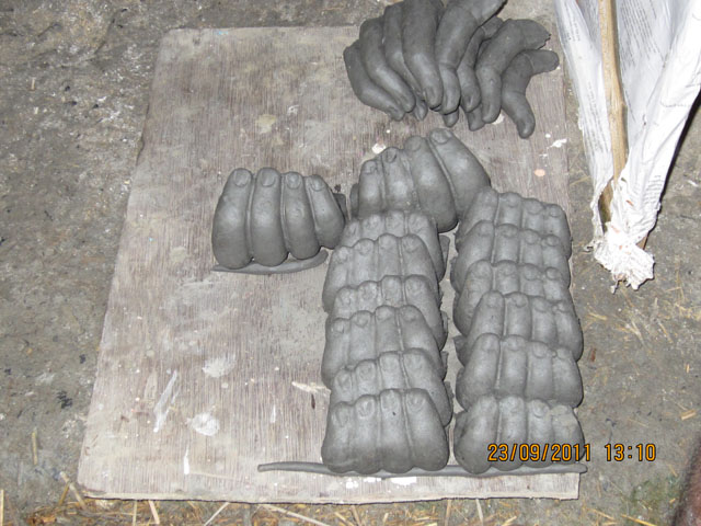 Fingers made from the cast